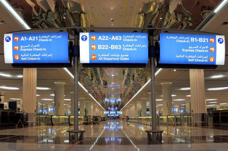 Dubai International lotnisko zdjęcia royalty free