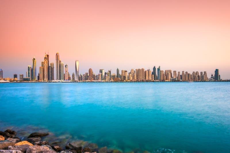 Dubai-Jachthafen. stockfotografie