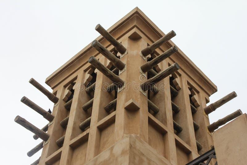 dubai jumeirah madinat wierza wiatr obrazy royalty free