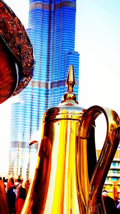 Dubai coffee royalty free stock photos