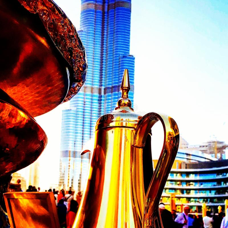 Dubai coffee stock photography