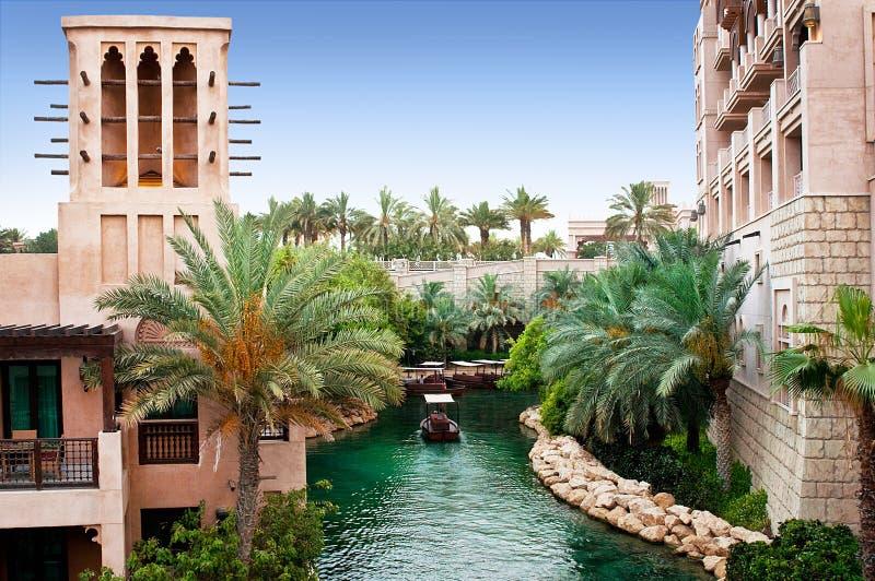 Dubai Madinat Jumeirah royaltyfri foto