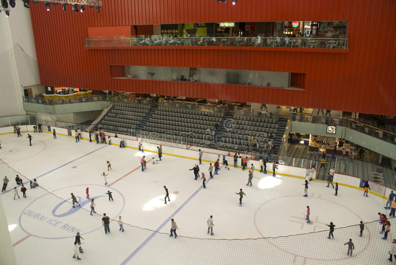 Dubai Mall ice rink stock images