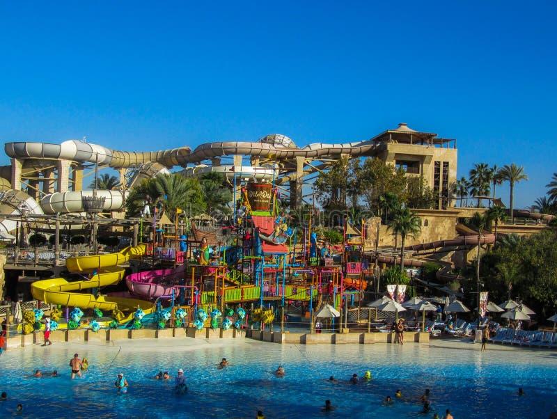 Dubai, March 17 2014: Wild Wadi Waterpark. in Dubai, United Arab Emirates royalty free stock images
