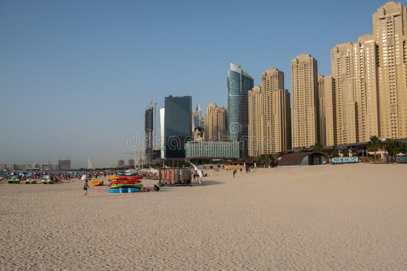 Dubai marina beach view, United Arab Emirates royalty free stock photography