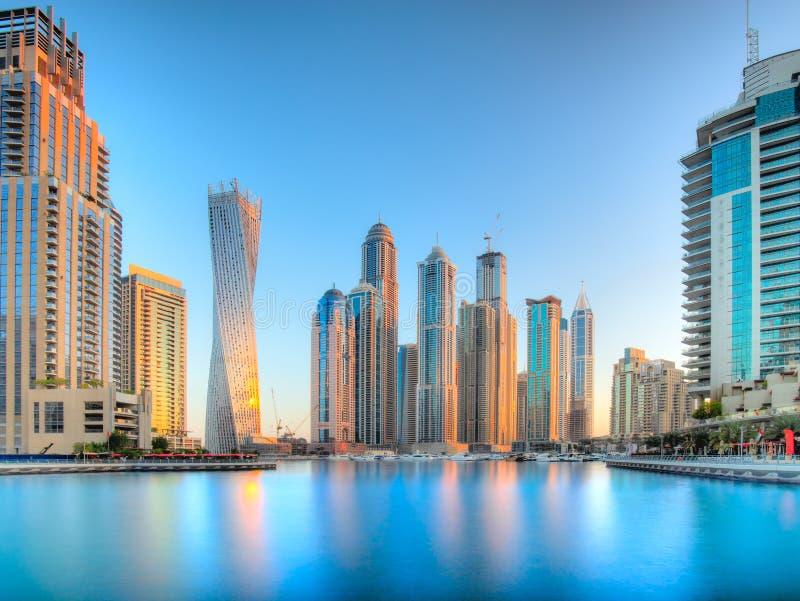 Dubai Marina at blue hour, Dubai, UAEuae stock image