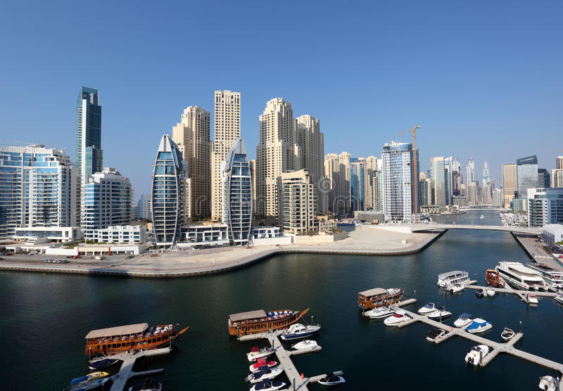 Download Dubai Marina High Angle View Stock Photo - Image: 40451454