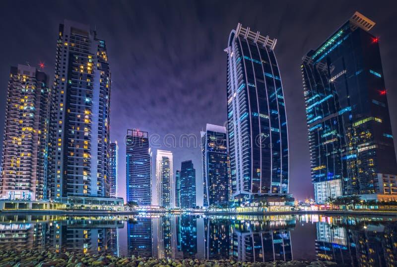 Dubai Marina jumeirah buildings royalty free stock photography