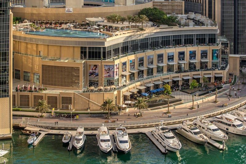 Dubai Marina Mall fotografía de archivo