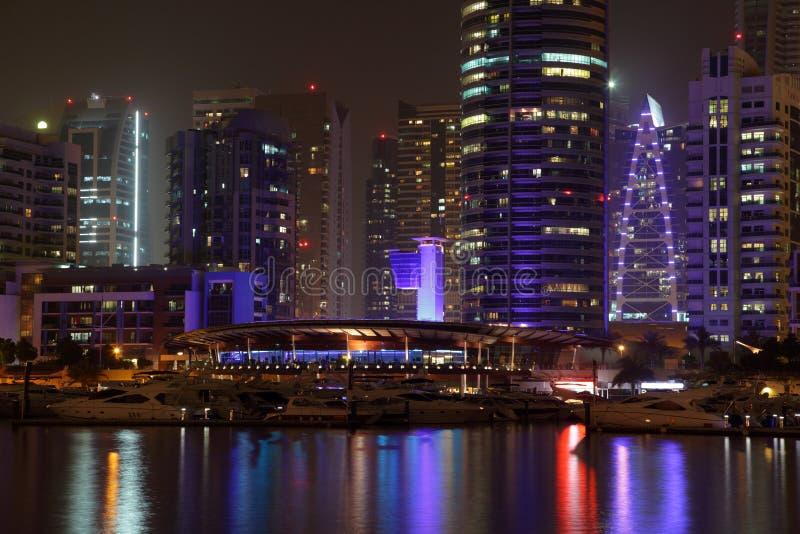dubai marina noc obrazy royalty free