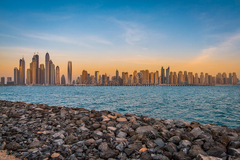 Dubai Marina Skyline royalty free stock photos