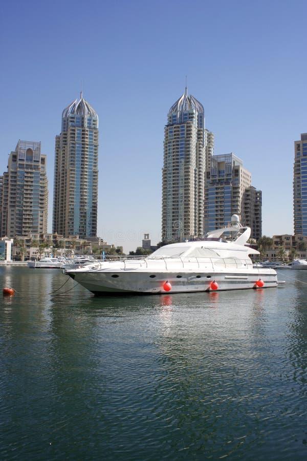 Dubai Marina skyscraper stock photography