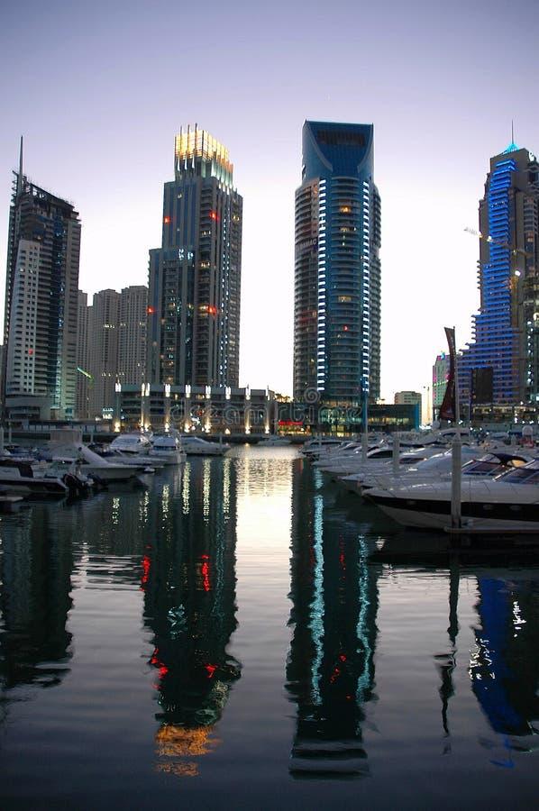 Dubai marina at Twilight royalty free stock image
