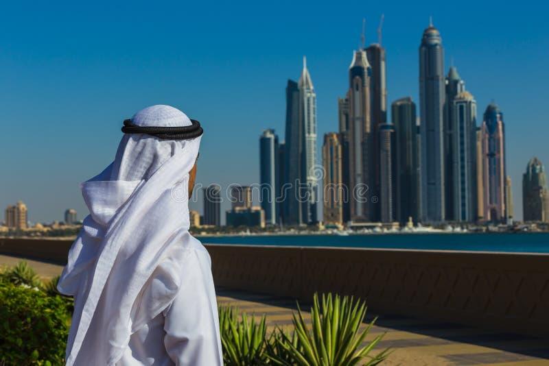 Dubai marina. UAE royaltyfri bild