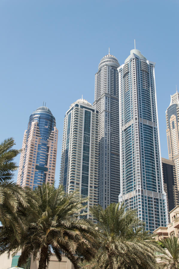 Dubai Marina in UAE stock image
