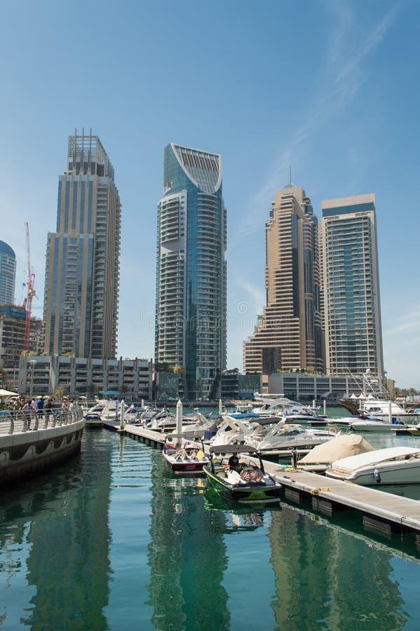 Dubai Marina in UAE royalty free stock photos