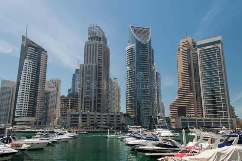 Dubai Marina in UAE stock photography