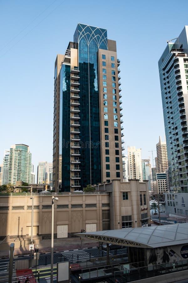 Dubai marina view, United Arab Emirates royalty free stock images