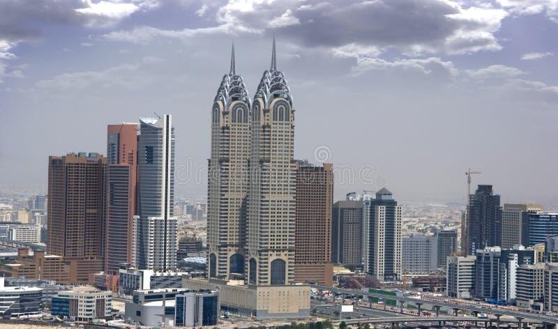 Dubai Media City. And the surrounding area royalty free stock photography