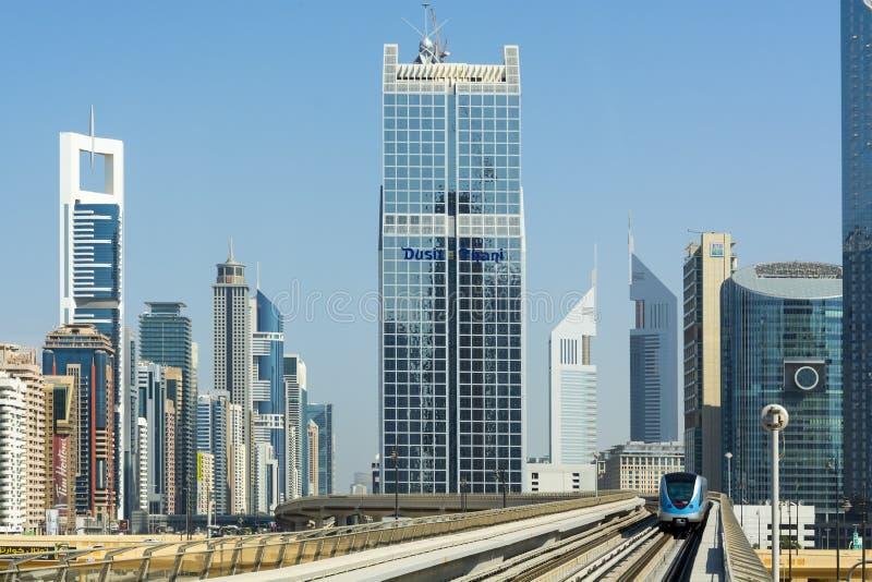 Dubai-Metro lizenzfreies stockfoto