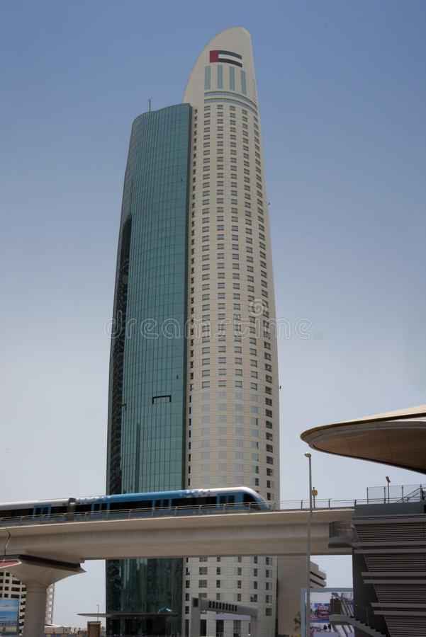 Download Dubai Metro & Skyscraper stock image. Image of road, emirates - 17292885