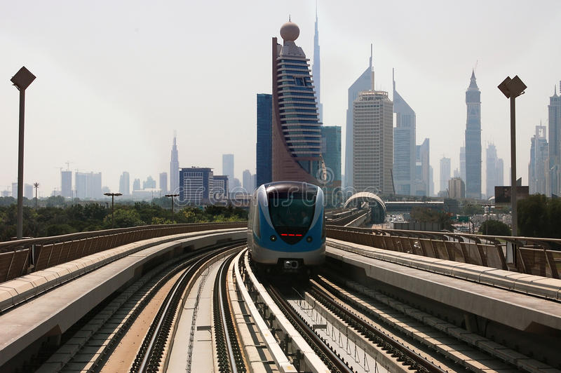 Dubai metro train royalty free stock photography