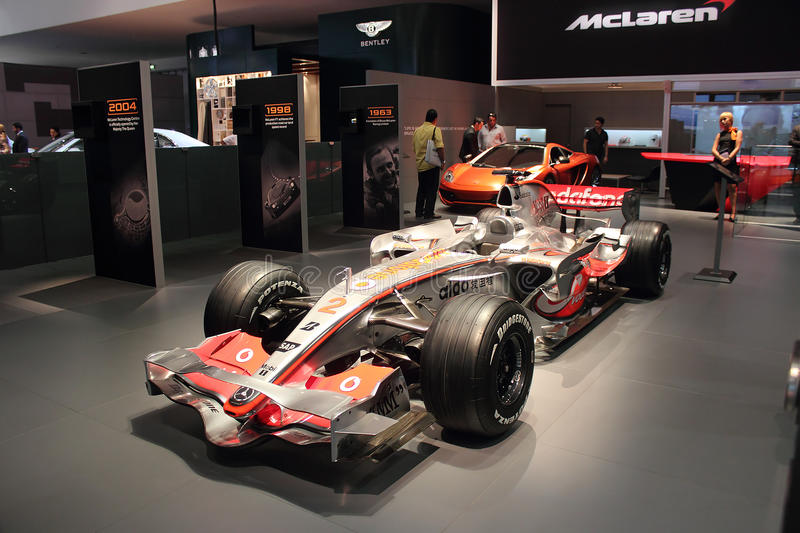 Dubai Motor Show NOVEMBER-14-2011 Mclaren display
