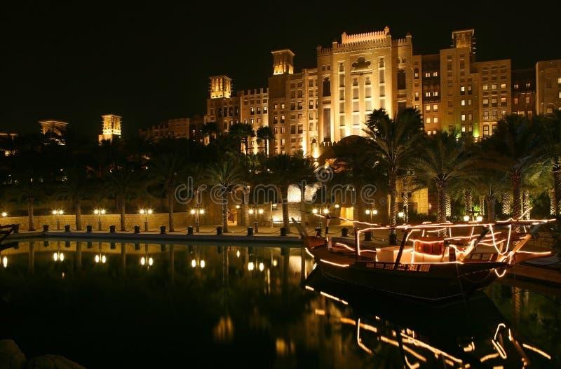 Dubai-Nacht stockfotos