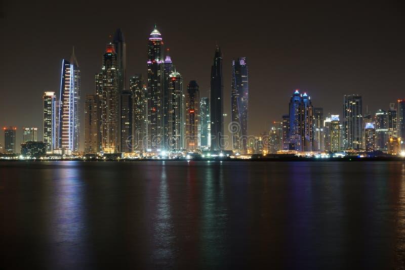 Dubai night stock photography