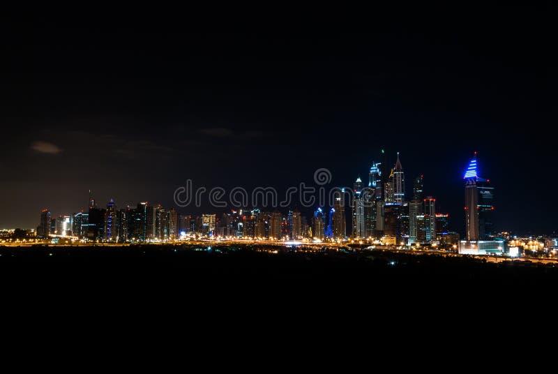 dubai noc linia horyzontu zdjęcia royalty free