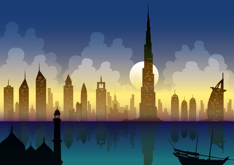 Dubai novo ilustração stock