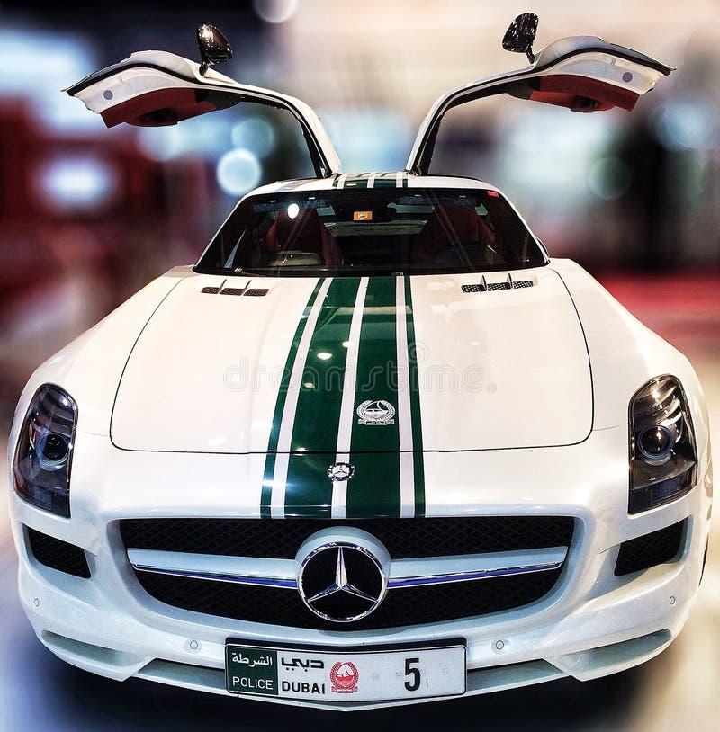 Dubai-Polizei Mercedes Benz SLS 63 lizenzfreie stockbilder