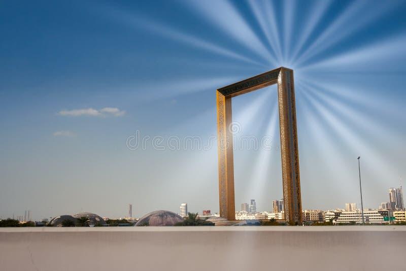 Dubai-Rahmen Dhabi UAE stockfoto