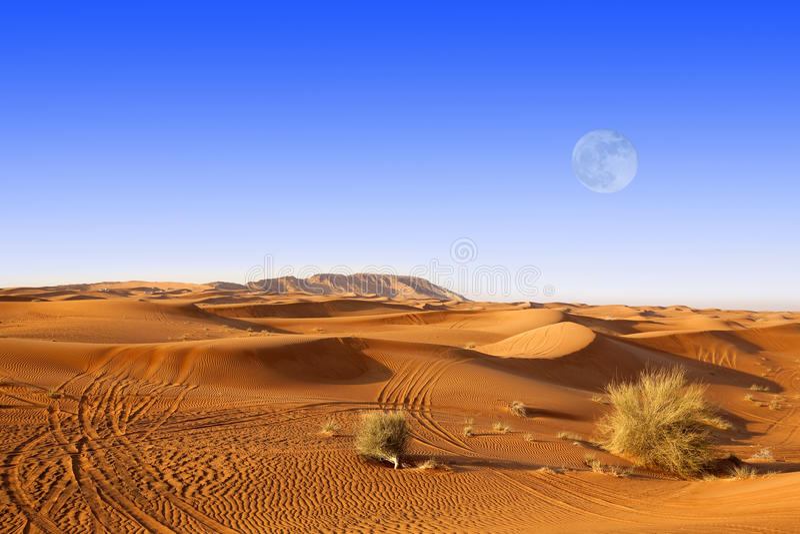 Dubai sand dunes royalty free stock image