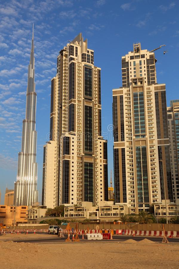 Dubai sandhorisont arkivfoto