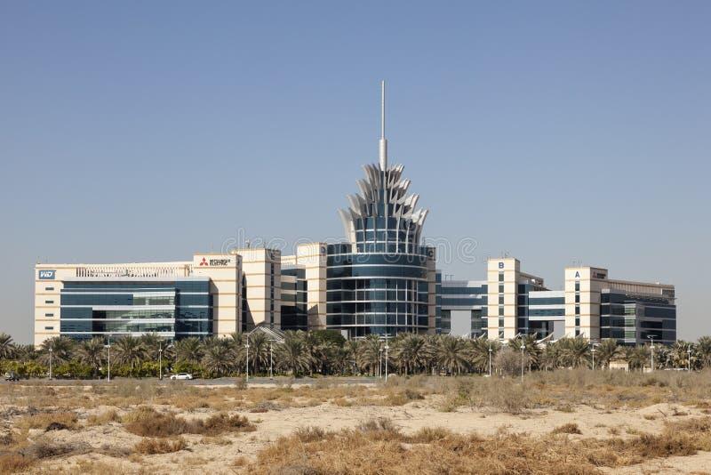 Dubai Silicon Oasis Headquarters. DUBAI, UAE - DEC 2, 2016: Dubai Silicon Oasis Headquarters building. Dubai Academic City, United Arab Emirates royalty free stock images