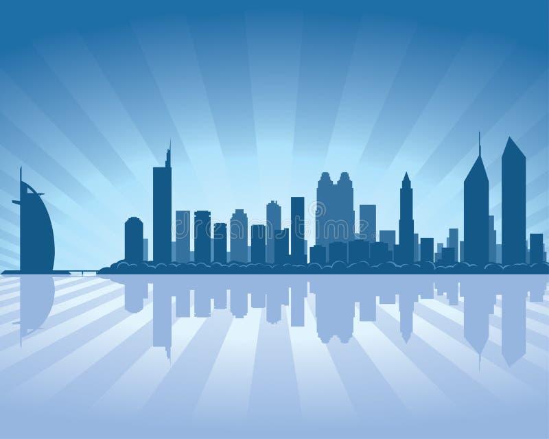 Download Dubai skyline stock vector. Image of dubai, panorama - 22430804