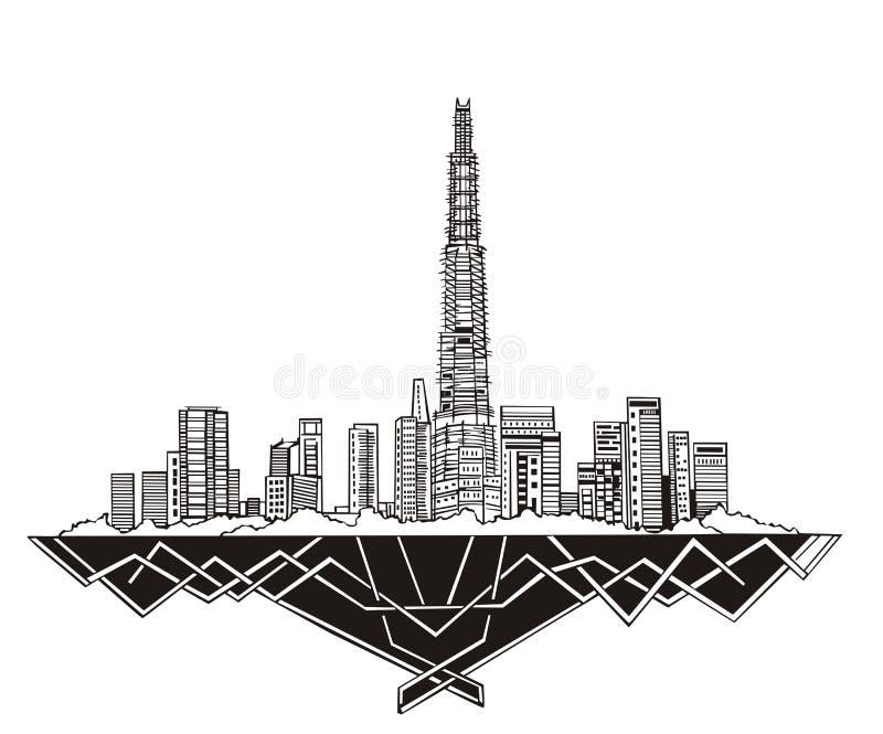 Dubai Skyline Royalty Free Stock Photos