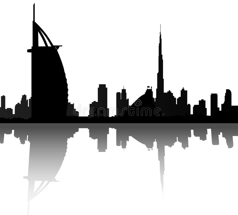 Dubai Skyline. With burj al arab and burj dubai