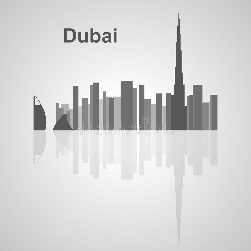 Dubai-Skyline für Ihr Design stockbilder