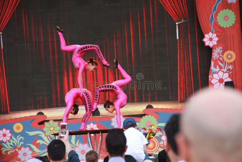 Acrobatic circus entertainer royalty free stock photo