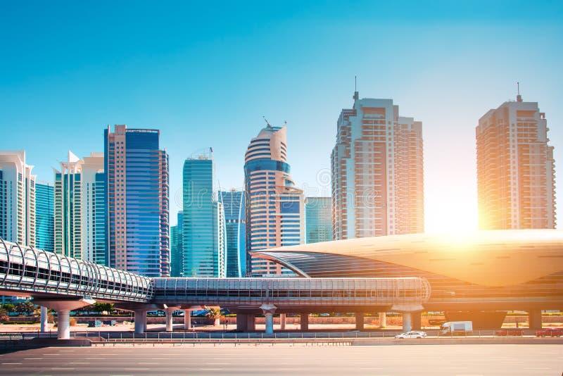 Stunning Dubai cityscape royalty free stock photography