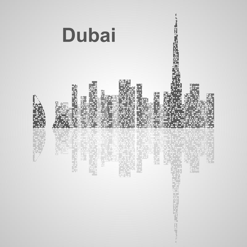 Dubai skyline for your design. Concept Illustration vector illustration