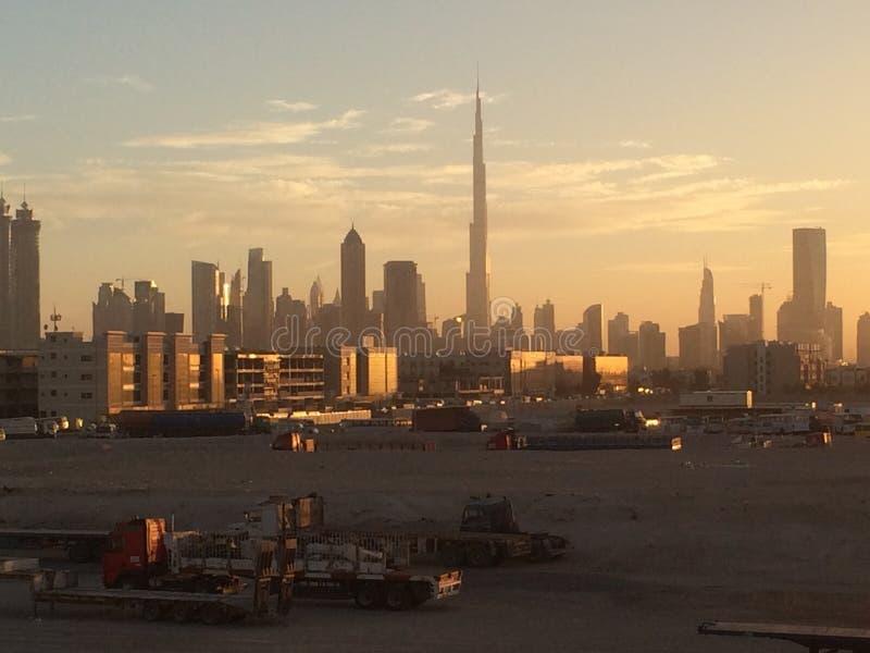 Dubai Skyscrappers royaltyfri bild