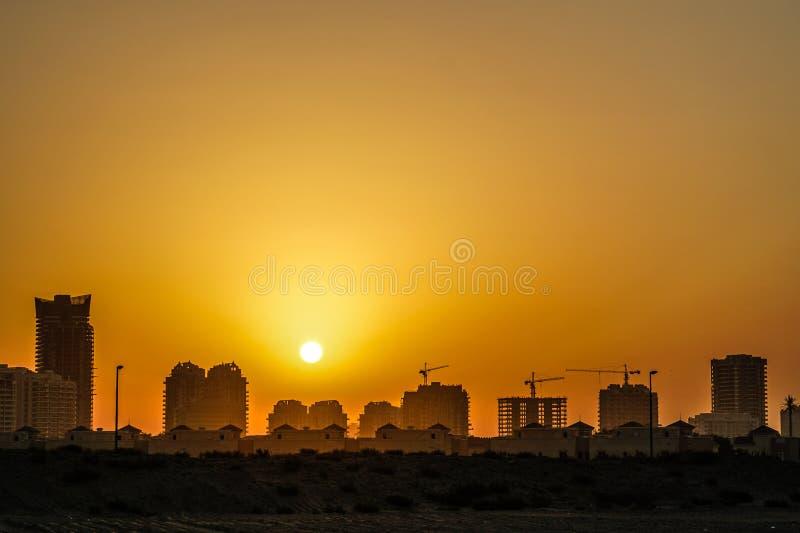 Dubai Sommar 2016 konstruktion dubai arkivbild