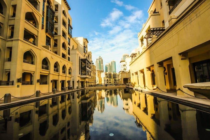 Dubai Souk Al Bahar arkivbilder