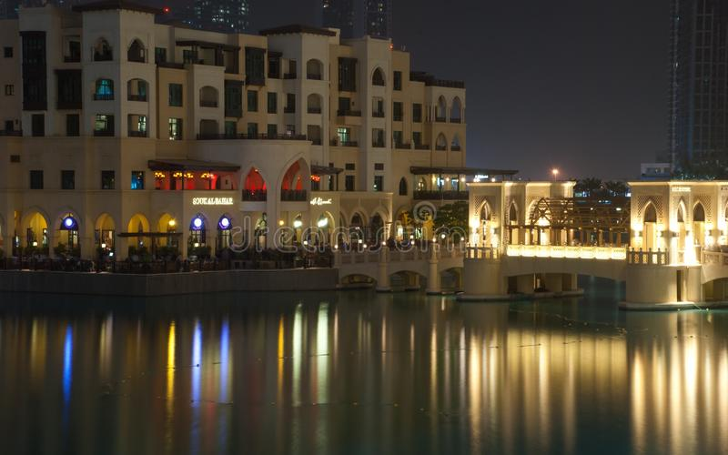 Dubai springbrunnstillhet royaltyfri fotografi