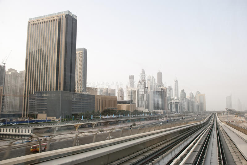 Dubai-Stadtbild lizenzfreies stockfoto