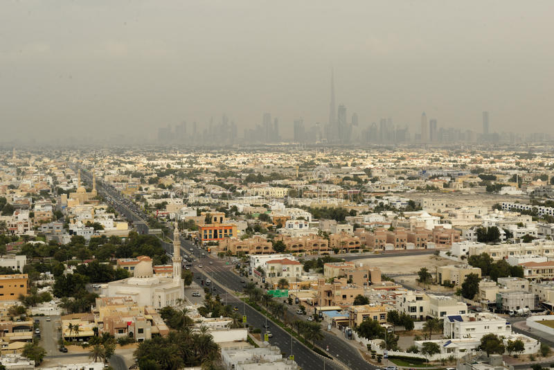 Dubai-Stadtlandschaft lizenzfreie stockfotografie