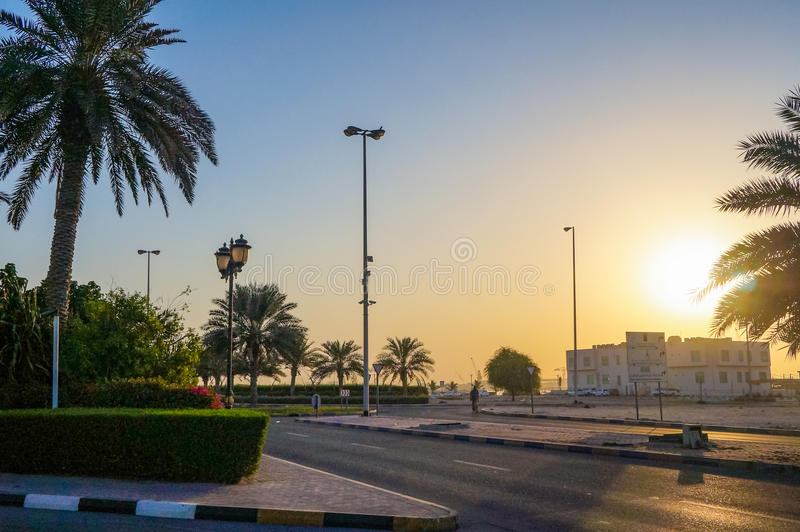 Dubai. Summer 2016. Ajman early in the morning while all the tourists are asleep. royalty free stock images